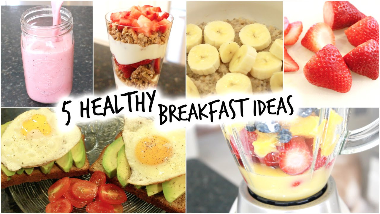 Easy And Healthy Breakfast Recipes  5 Healthy Breakfast Ideas for School Quick and Easy