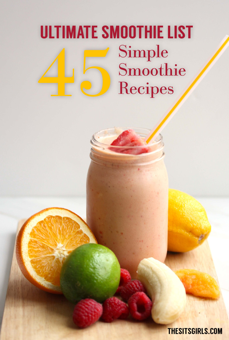 Easy And Healthy Smoothie Recipes  Healthy easy breakfast smoothie recipes Food easy recipes