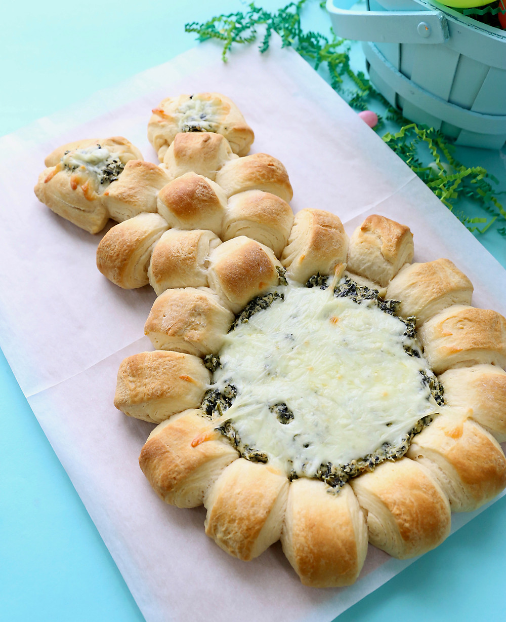 Easy Appetizers For Easter  Easter bunny spinach dip easy Easter appetizer It s