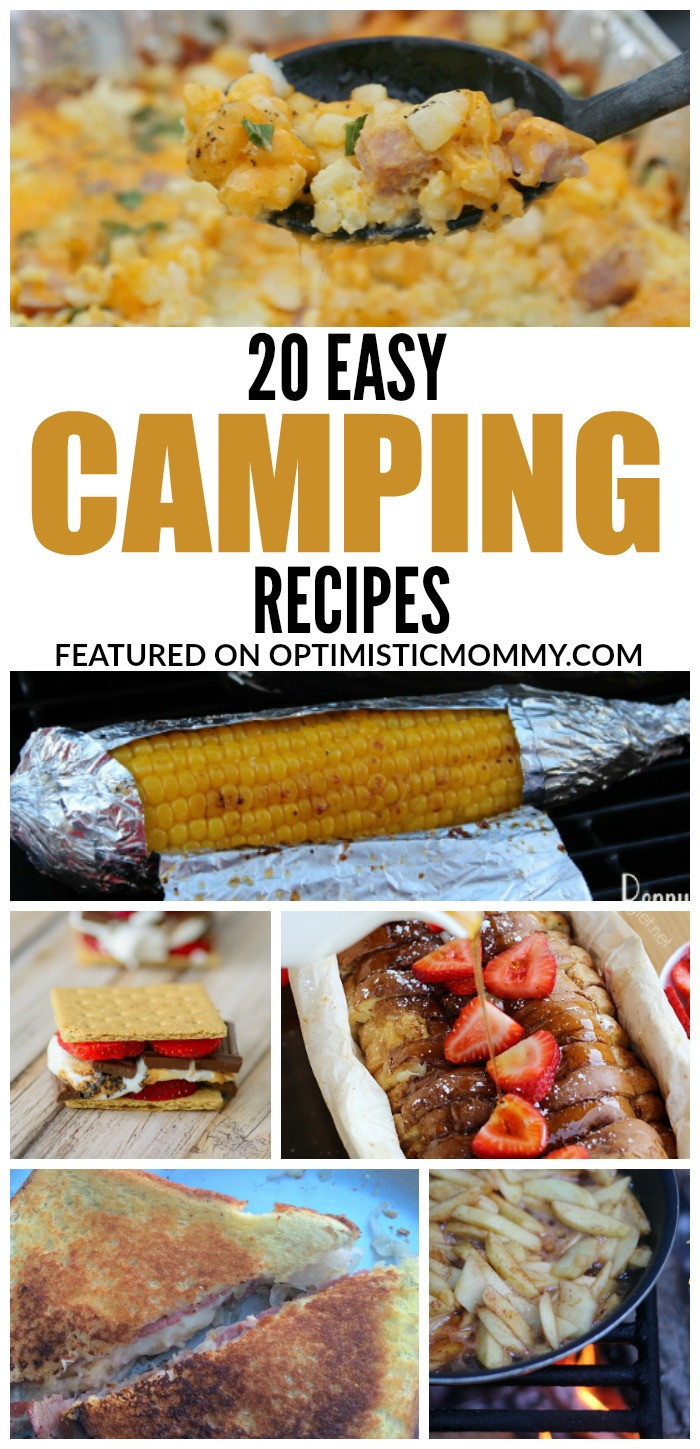 Easy Camping Dinner Ideas  20 Easy Camping Recipes for your Family Optimistic Mommy