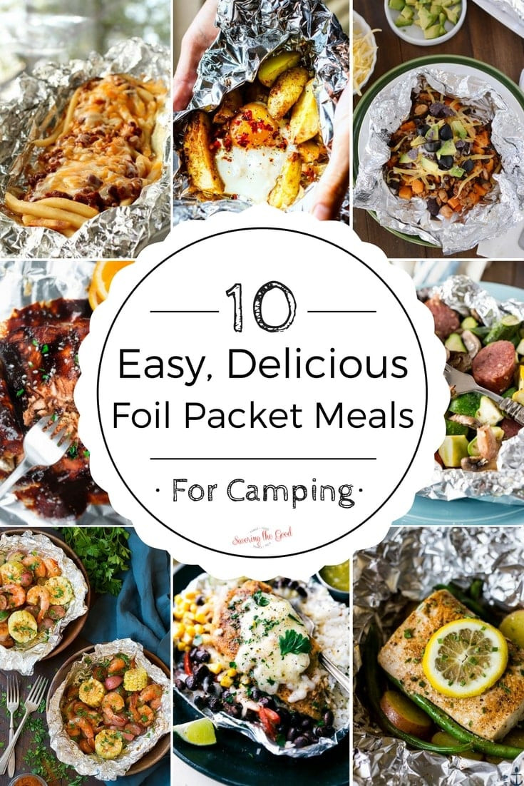 Easy Camping Dinners  meal in foil