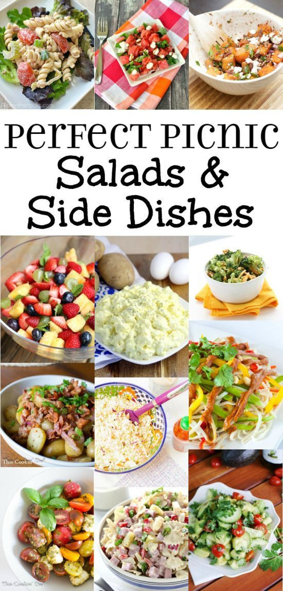 Easy Camping Side Dishes  Picnic Side Dishes Recipes Pasta Salad Potato Salad