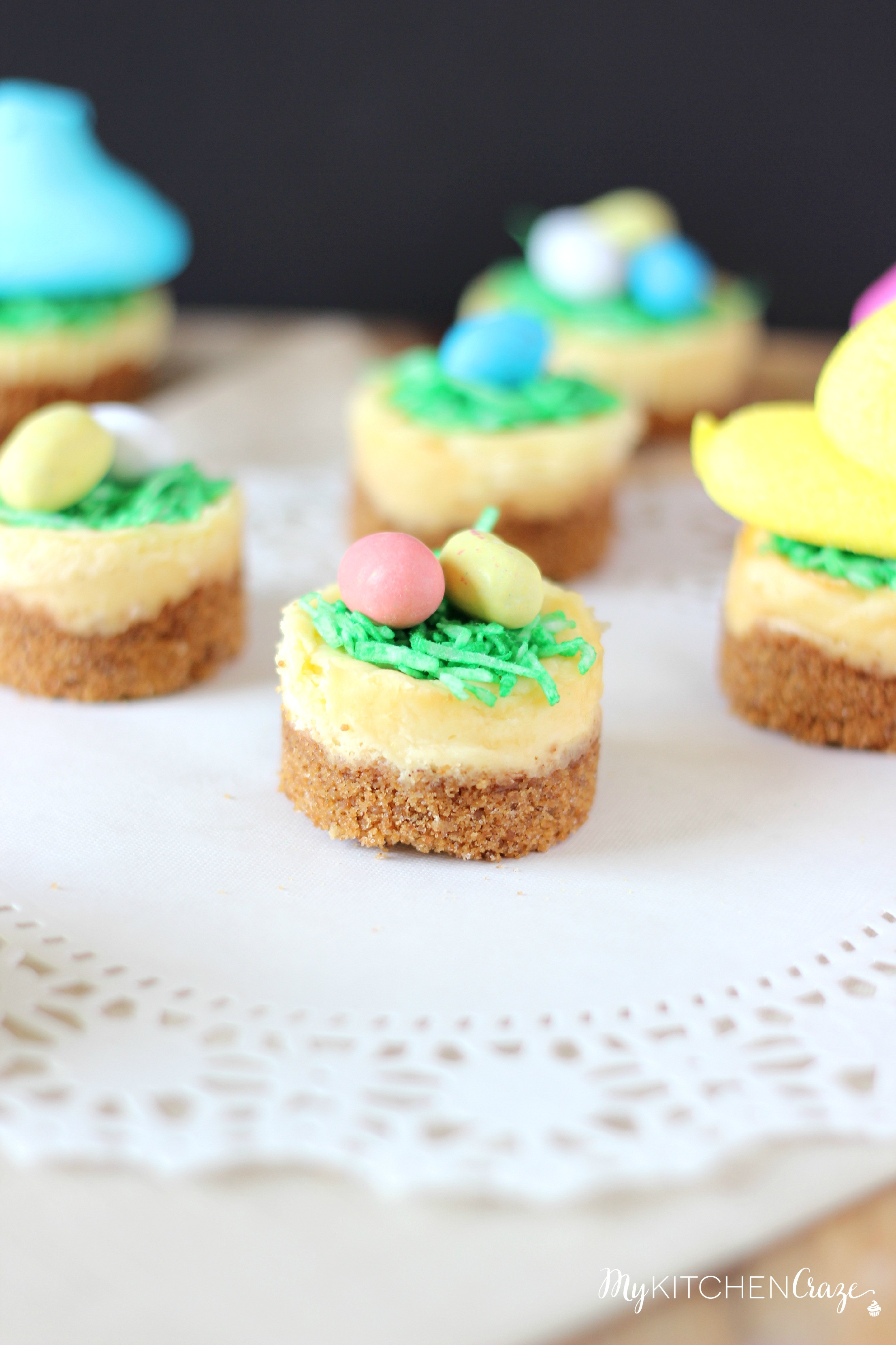Easy Desserts For Easter  Mini Easter Cheesecakes My Kitchen Craze