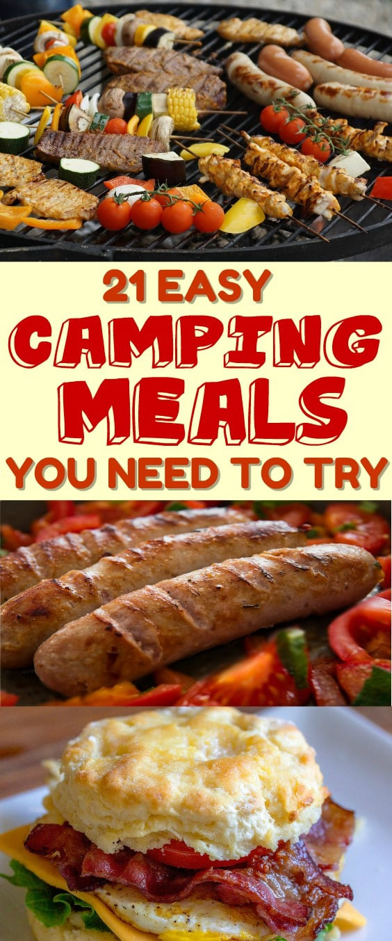 Easy Dinners For Camping  21 Easy Camping Meals For Groups TheSavvyLyfe