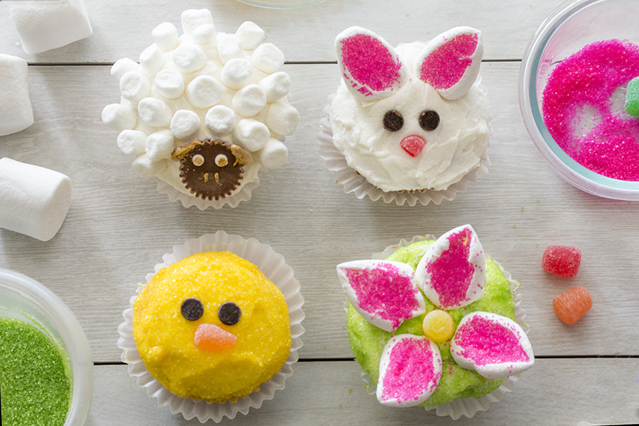 Easy Easter Cupcakes  Homan at Home