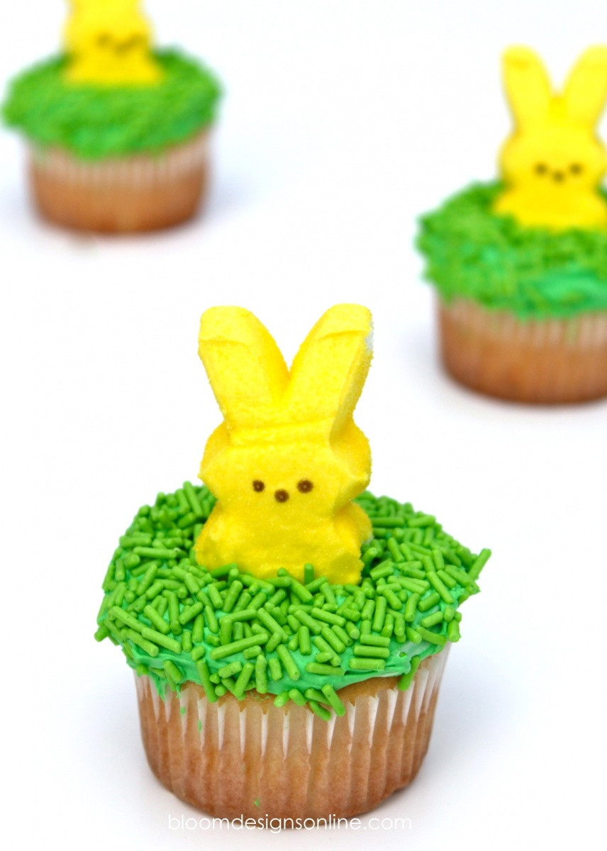 Easy Easter Cupcakes  Make It Monday Easy Easter Cupcakes Bloom Designs
