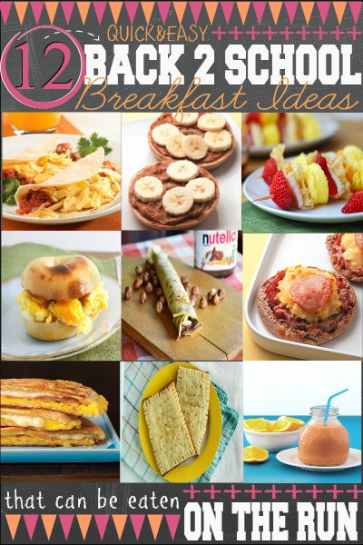 Easy Fast Healthy Breakfast  School Lunch Planning Printables First Home Love Life
