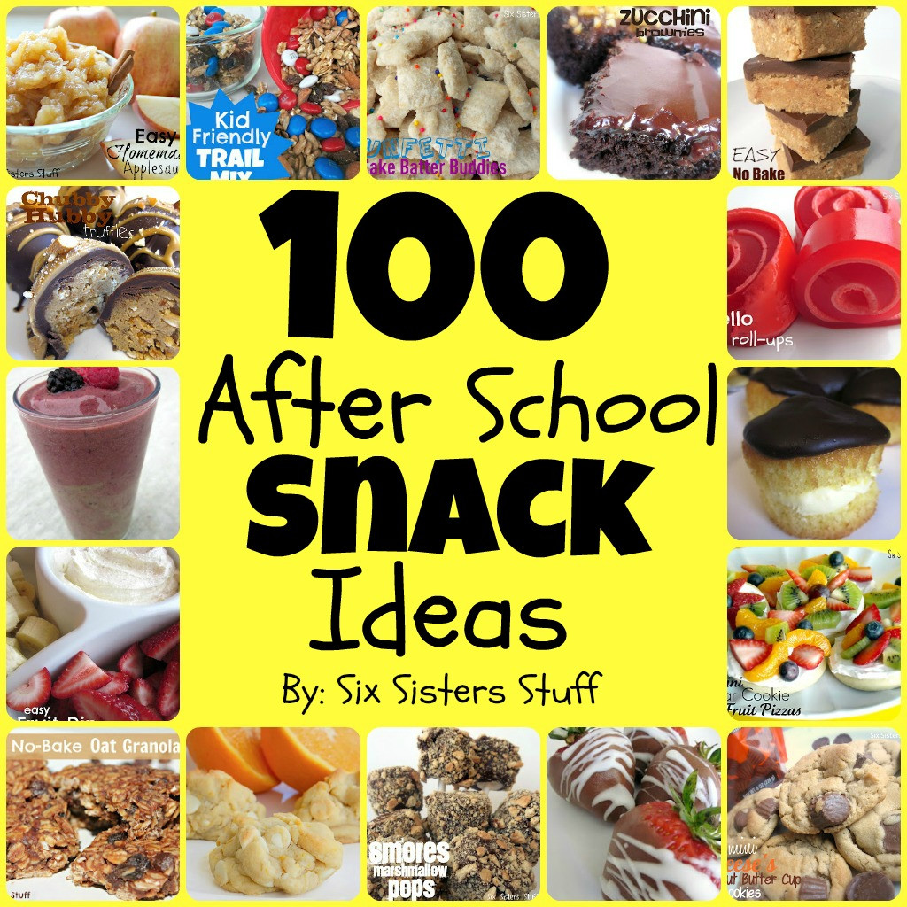 Easy Healthy Afterschool Snacks  100 Easy After School Snacks
