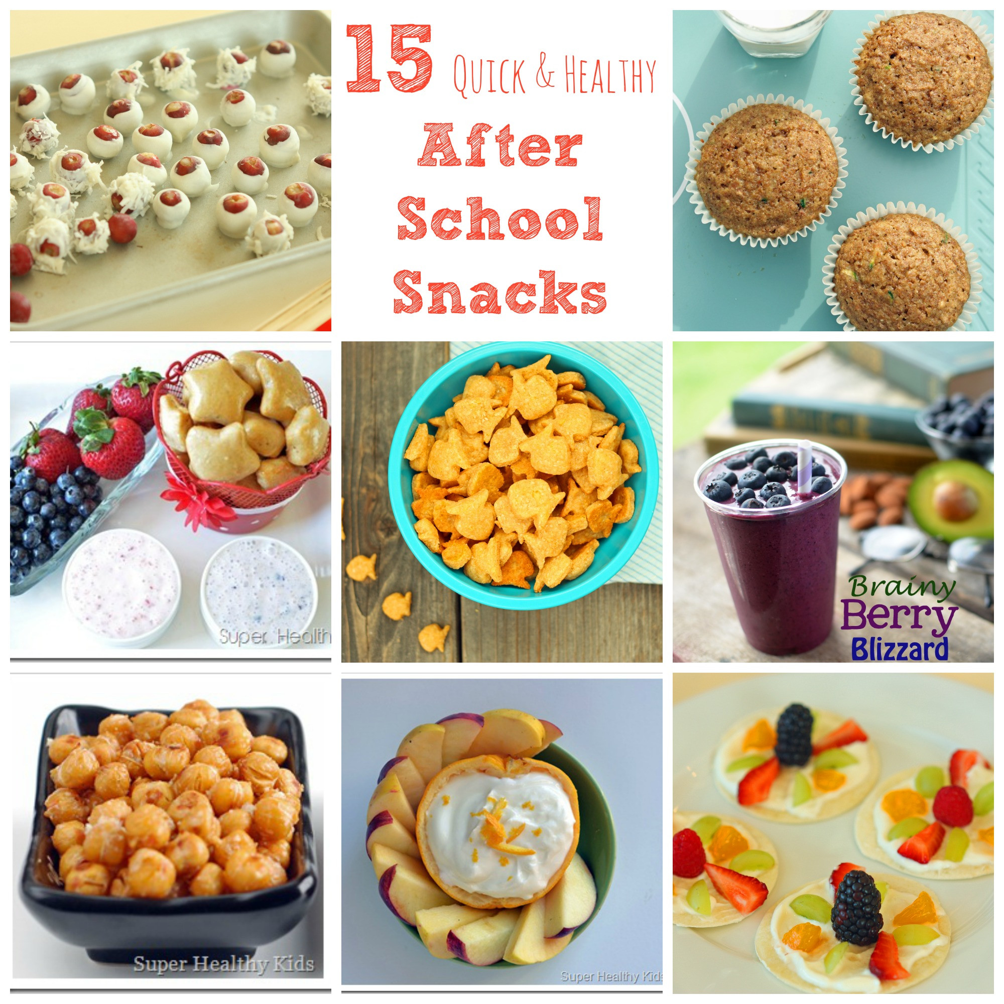 Easy Healthy Afterschool Snacks  The answer for the after school hunger without