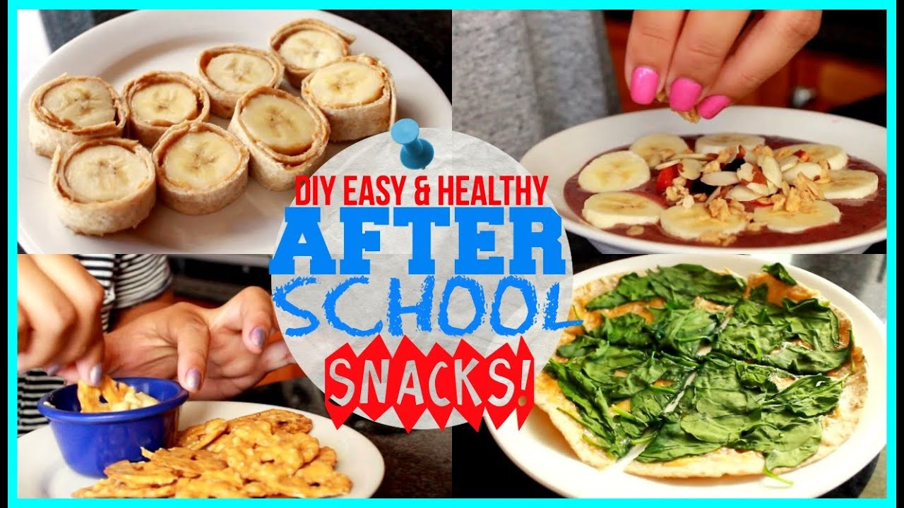 Easy Healthy Afterschool Snacks  DIY HEALTHY & EASY AFTER SCHOOL SNACKS