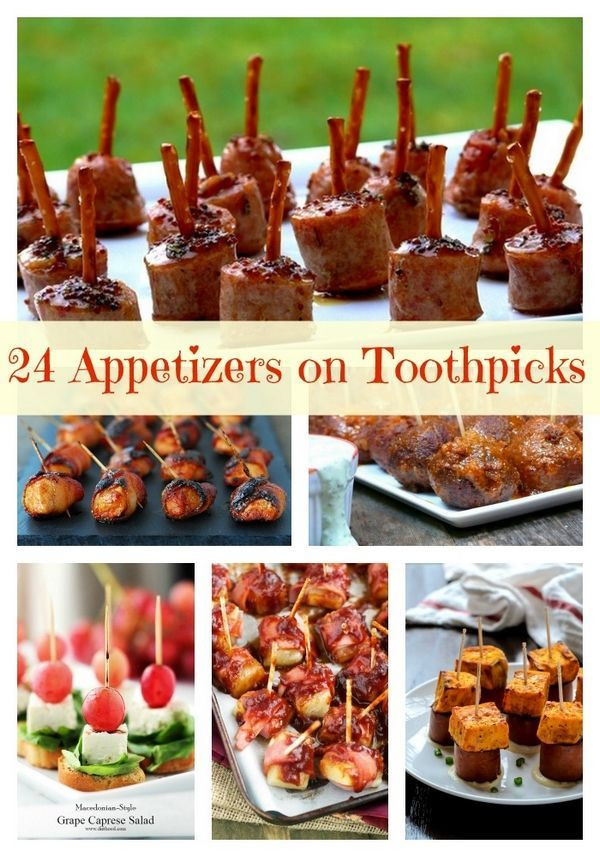 Easy Healthy Appetizers Finger Foods  24 Quick and Easy Appetizers on Toothpicks