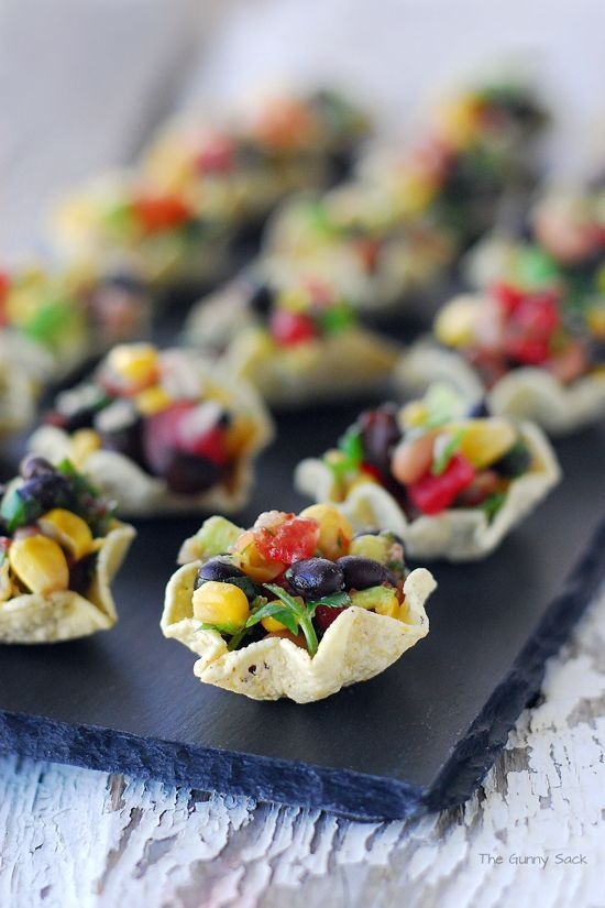 Easy Healthy Appetizers Finger Foods  Cowboy Caviar Cups An Easy Appetizer