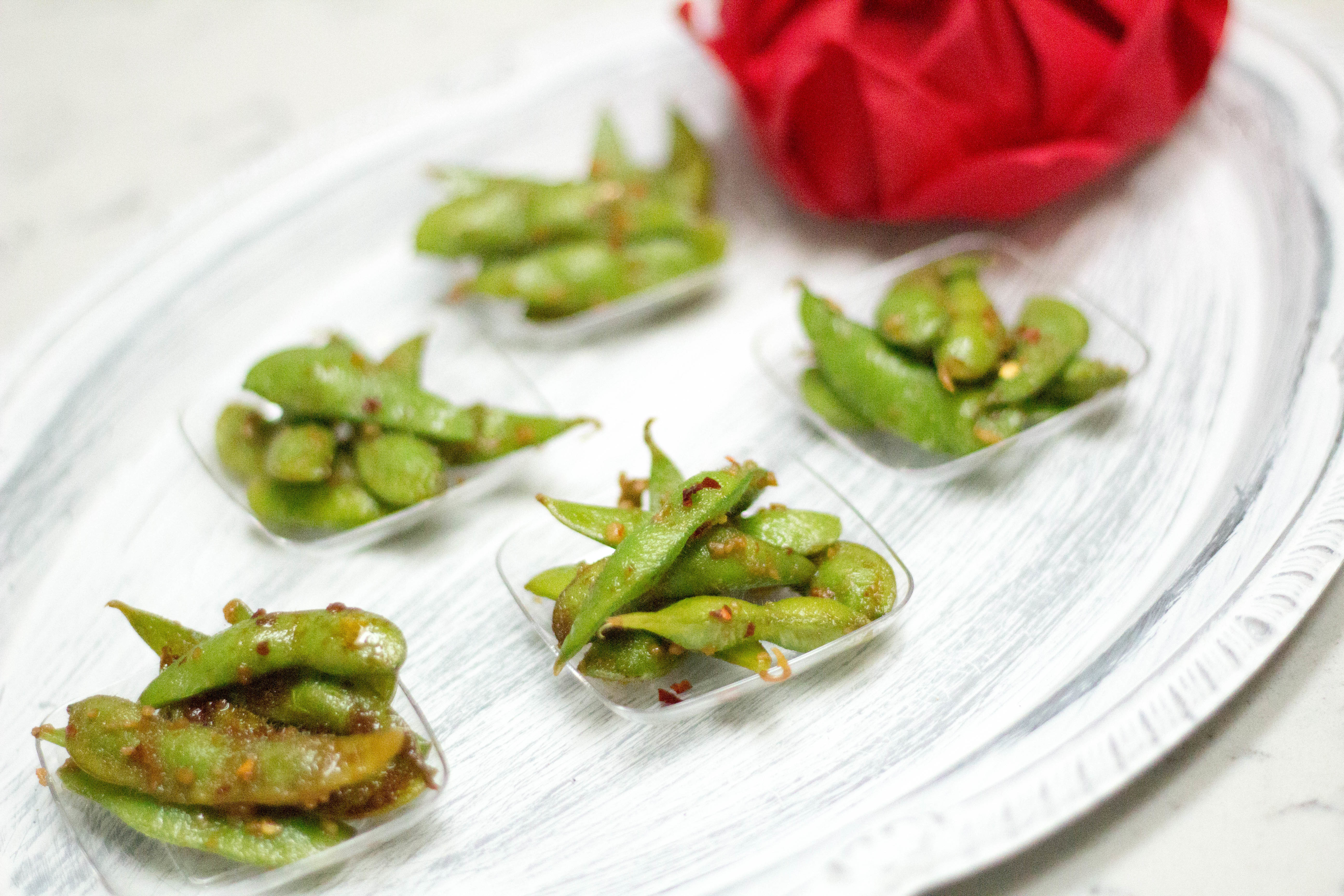 Easy Healthy Appetizers Finger Foods  spicy garlic edamame recipe