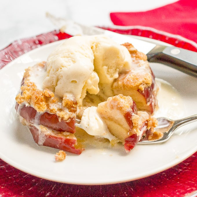 Easy Healthy Apple Desserts  Easy healthy apple crisp stacks Family Food on the Table