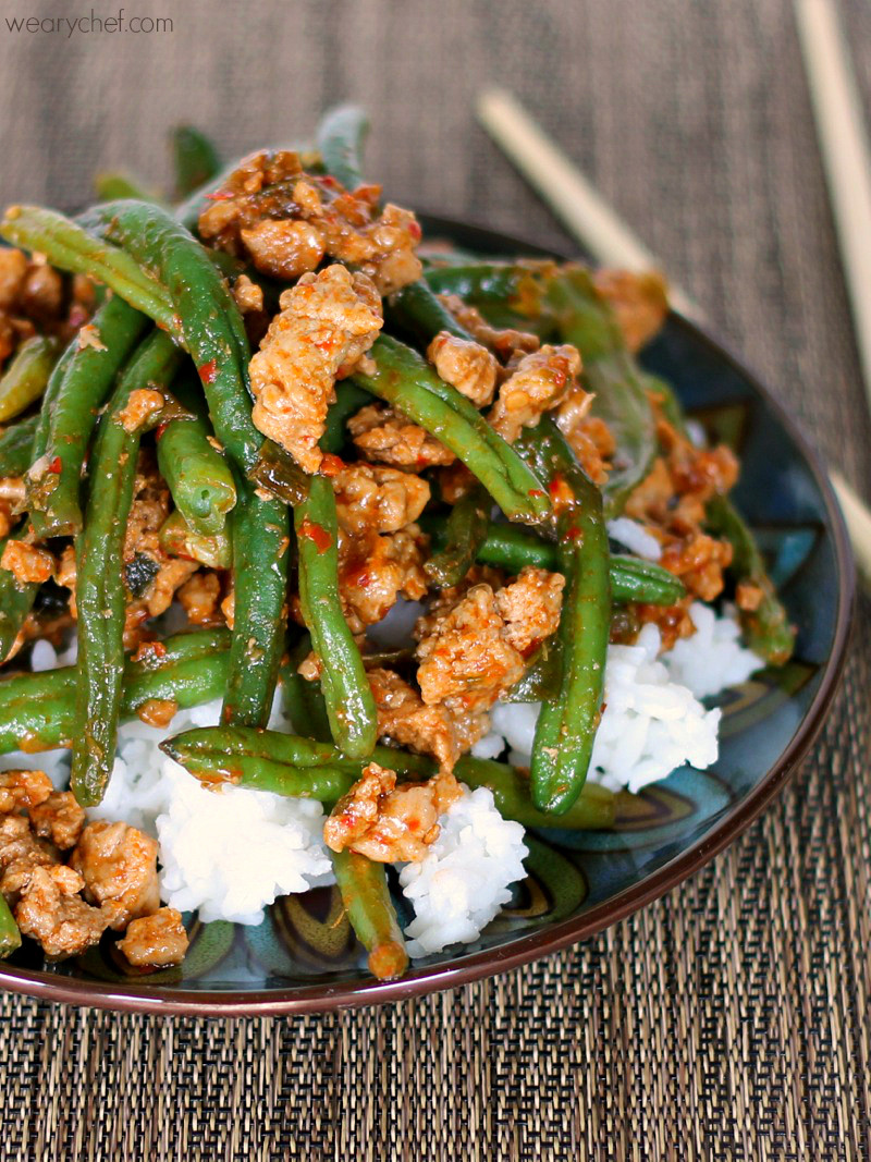 Easy Healthy Asian Recipes  Favorite Chinese Green Beans with Ground Turkey The