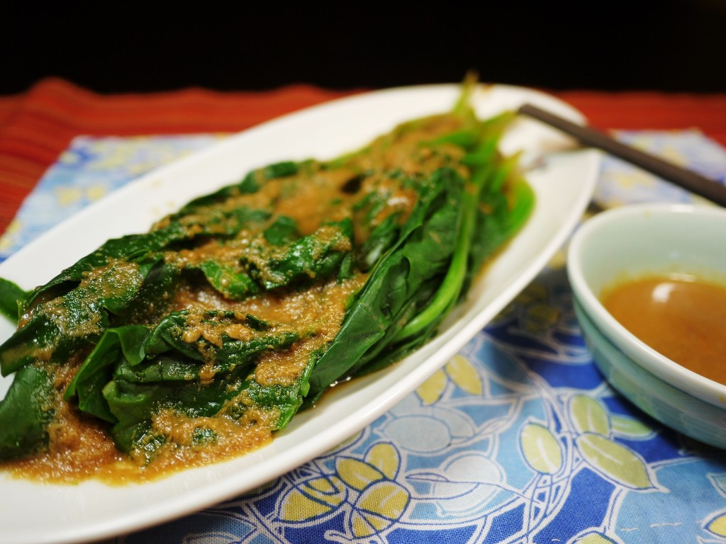 Easy Healthy Asian Recipes  Healthy Steam Spinach with Asian Peanut Sauce Easy