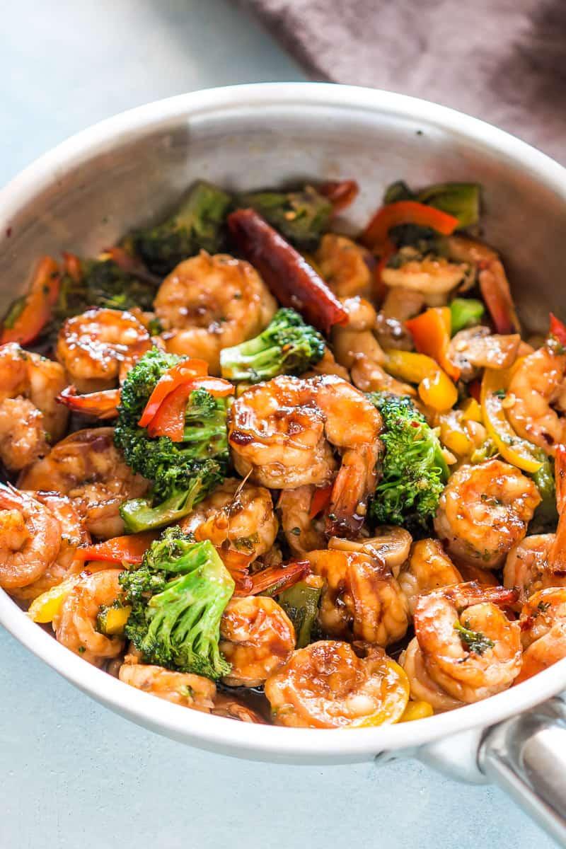 Easy Healthy Asian Recipes  Teriyaki Shrimp Broccoli Stir Fry Ready in 30 mins My