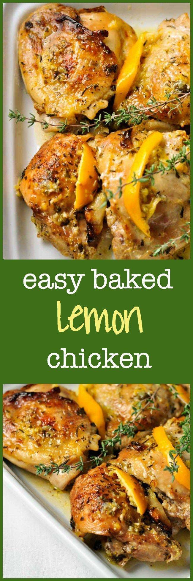 Easy Healthy Baked Chicken Recipes  Easy Baked Lemon Chicken Recipe