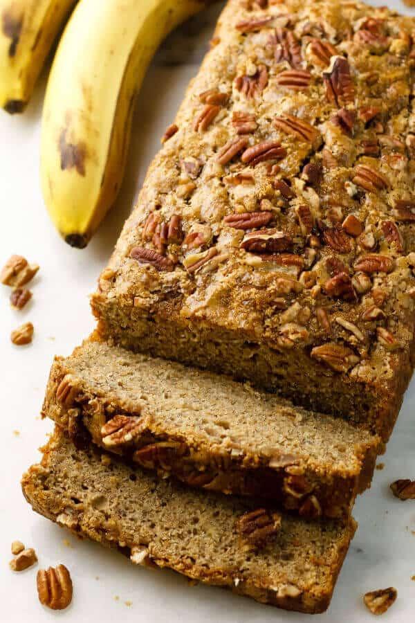 Easy Healthy Banana Bread Recipe  Healthy Dairy Free Banana Bread with Applesauce Recipe