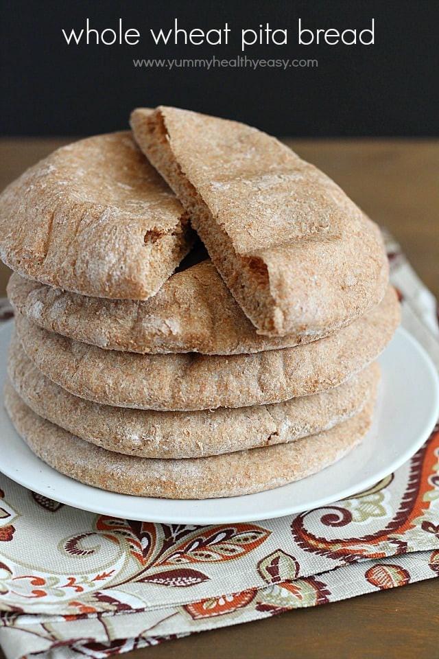 Easy Healthy Bread Recipes  Homemade Whole Wheat Pita Bread Yummy Healthy Easy