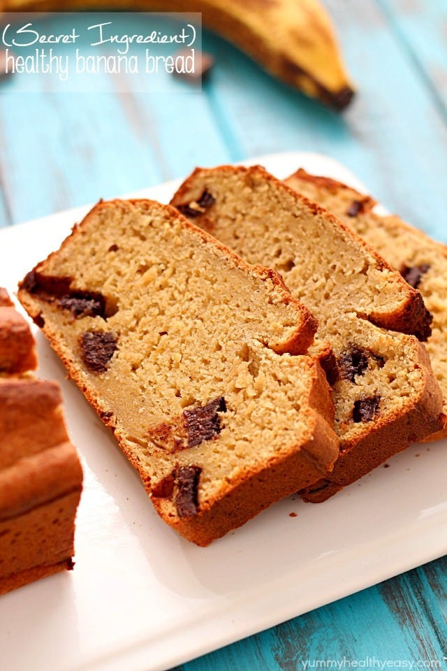 Easy Healthy Bread Recipes  Secret Ingre nt Healthy Banana Bread Recipe Yummy