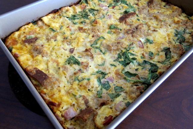Easy Healthy Breakfast Casserole  Strada Breakfast Casserole
