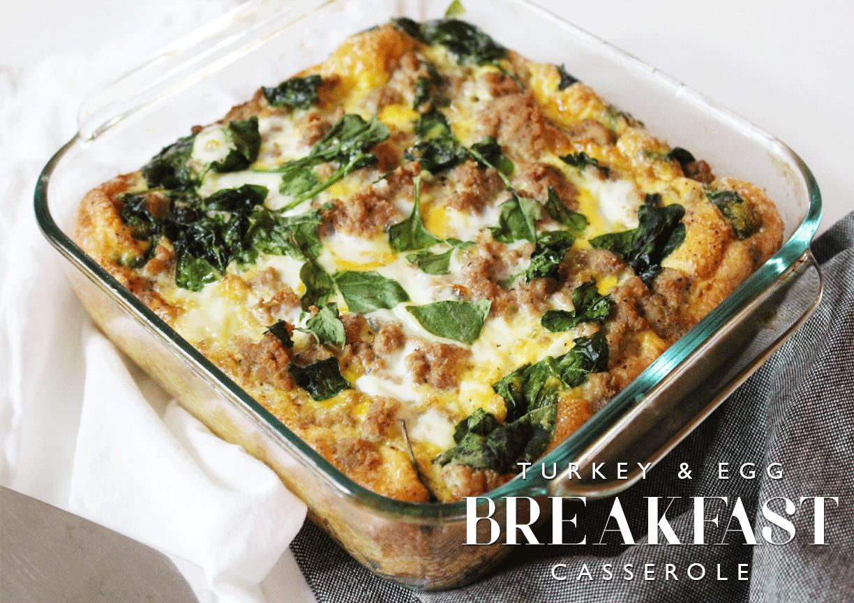 Easy Healthy Breakfast Casserole  Turkey & Egg Breakfast Casserole Aimee Mars