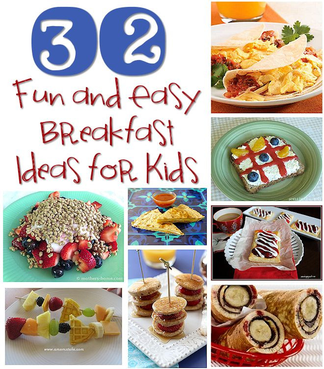 Easy Healthy Breakfast For Kids  breakfast