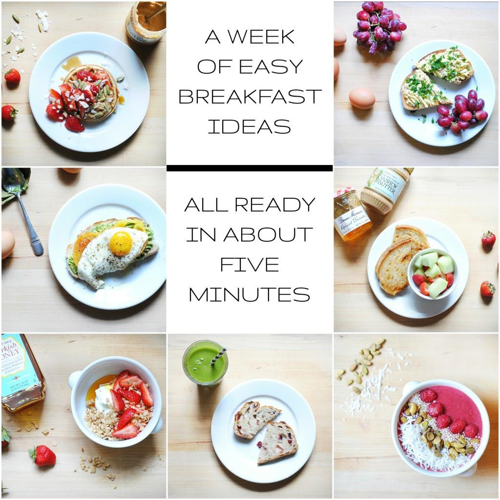 Easy Healthy Breakfast  A Week of Healthy Easy Breakfast Ideas All Ready in
