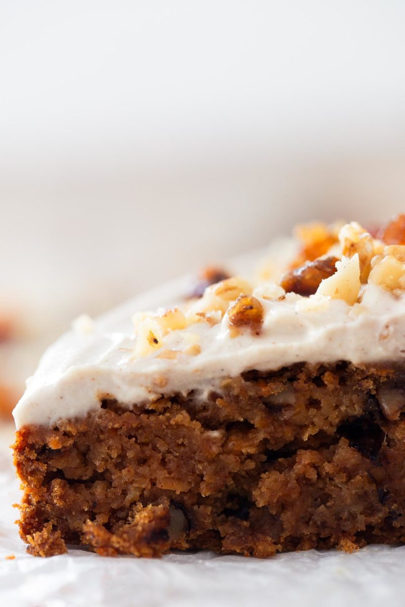Easy Healthy Carrot Cake Recipe  Vegan Carrot Cake Gluten Free