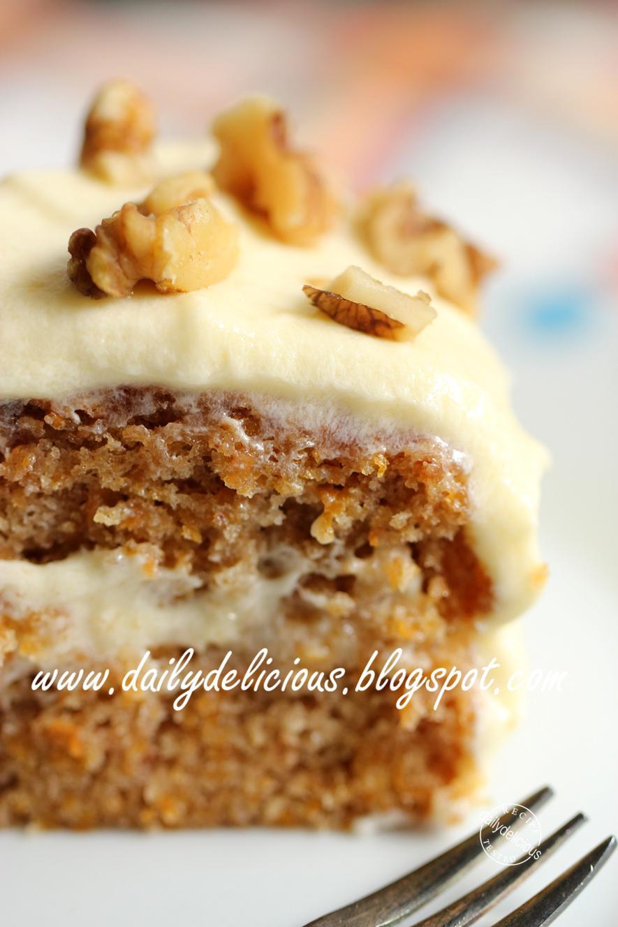 Easy Healthy Carrot Cake Recipe  dailydelicious Carrot Cake Easy lazy cake