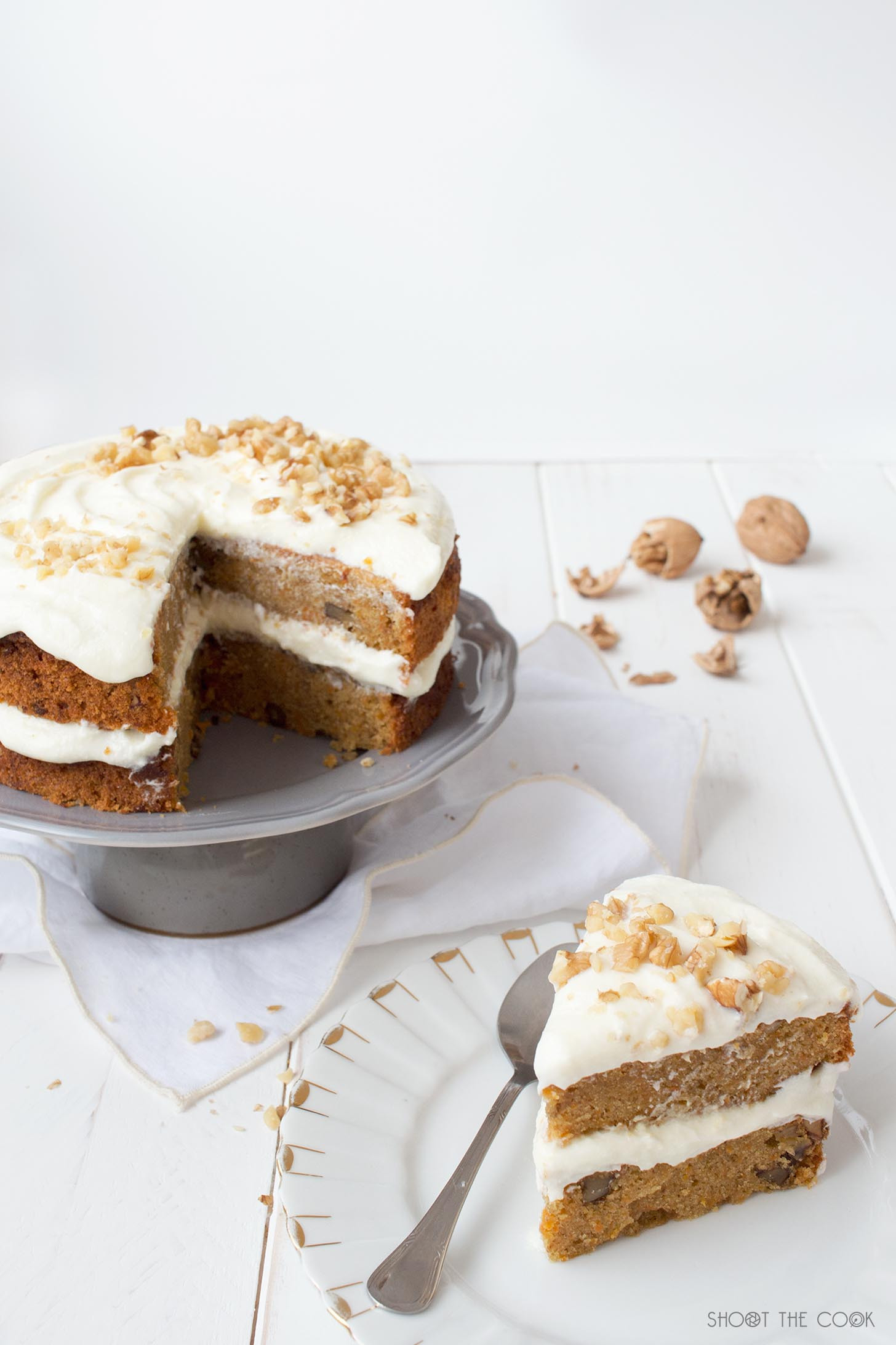 Easy Healthy Carrot Cake Recipe  Carrot Cake Easy Recipe Shoot the cook Food