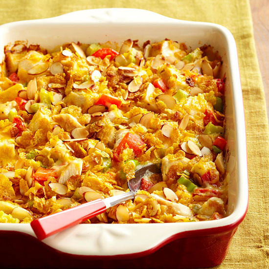 Easy Healthy Chicken Casserole Recipes  Hot Chicken Salad Casserole