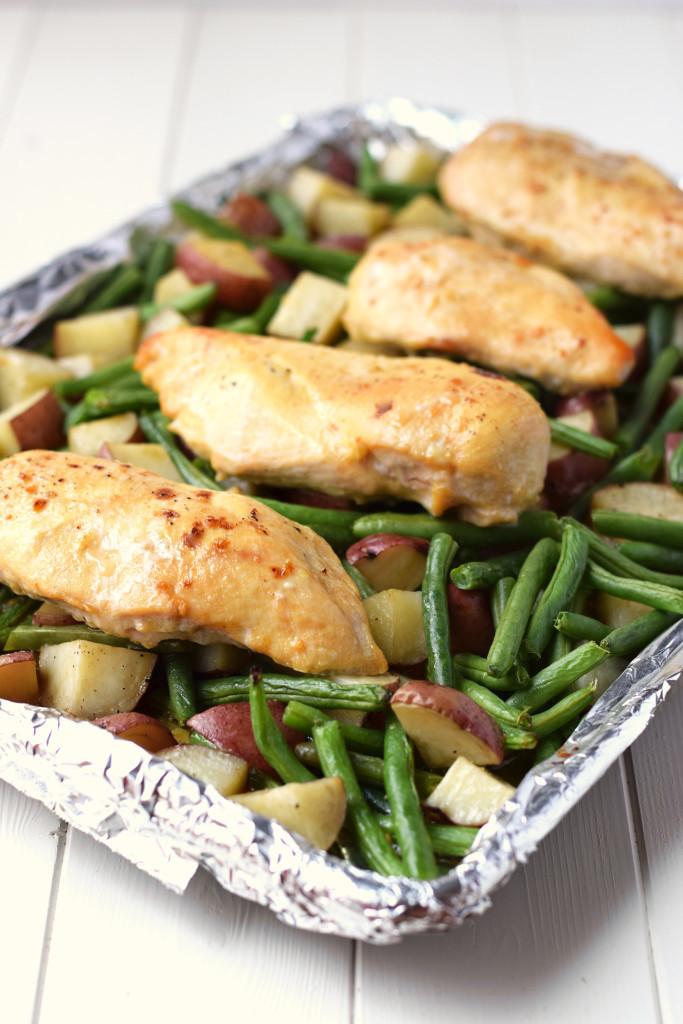 Easy Healthy Chicken Dinner Recipe  e Pan Honey Garlic Chicken and Ve ables