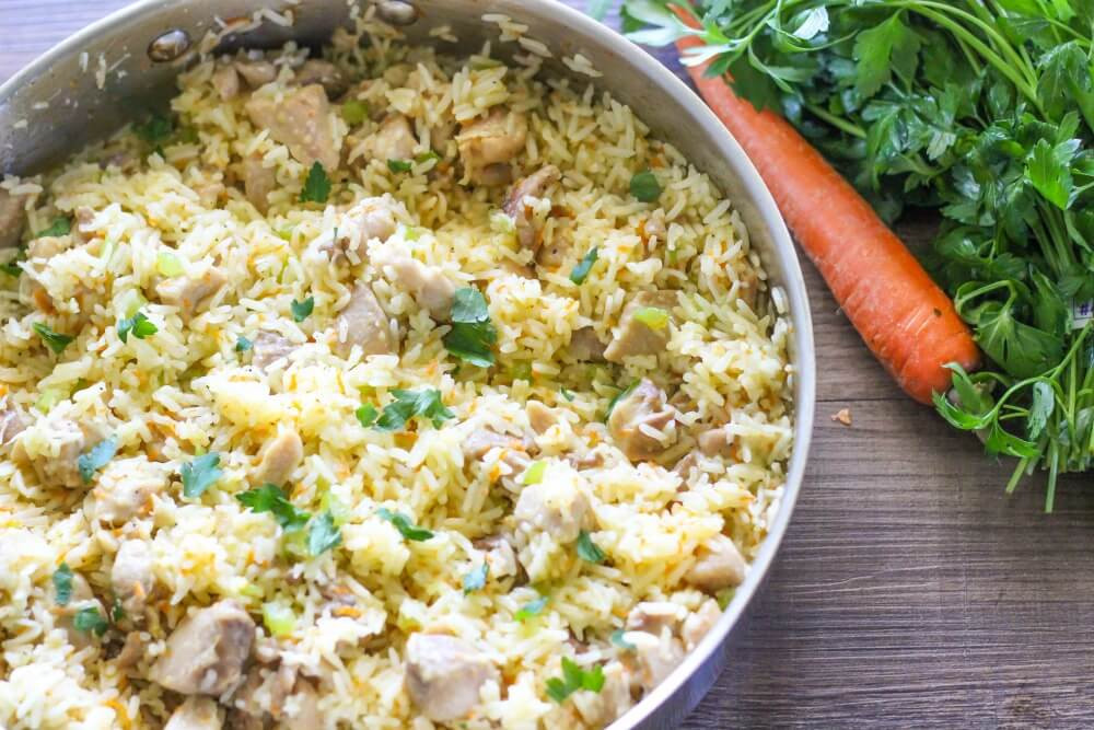 Easy Healthy Chicken Dinner Recipe  e Pot Creamy Chicken and Rice I Heart Nap Time