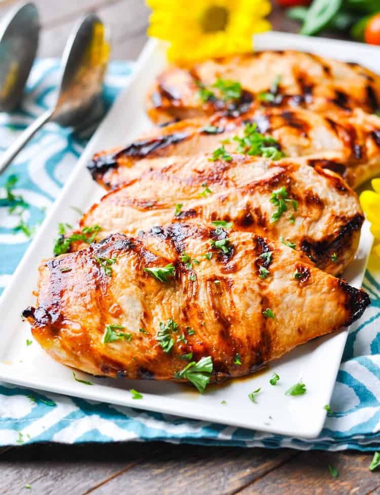 "Easy Healthy Chicken Dinner Recipes  ""No Work"" Marinated Chicken The Seasoned Mom"