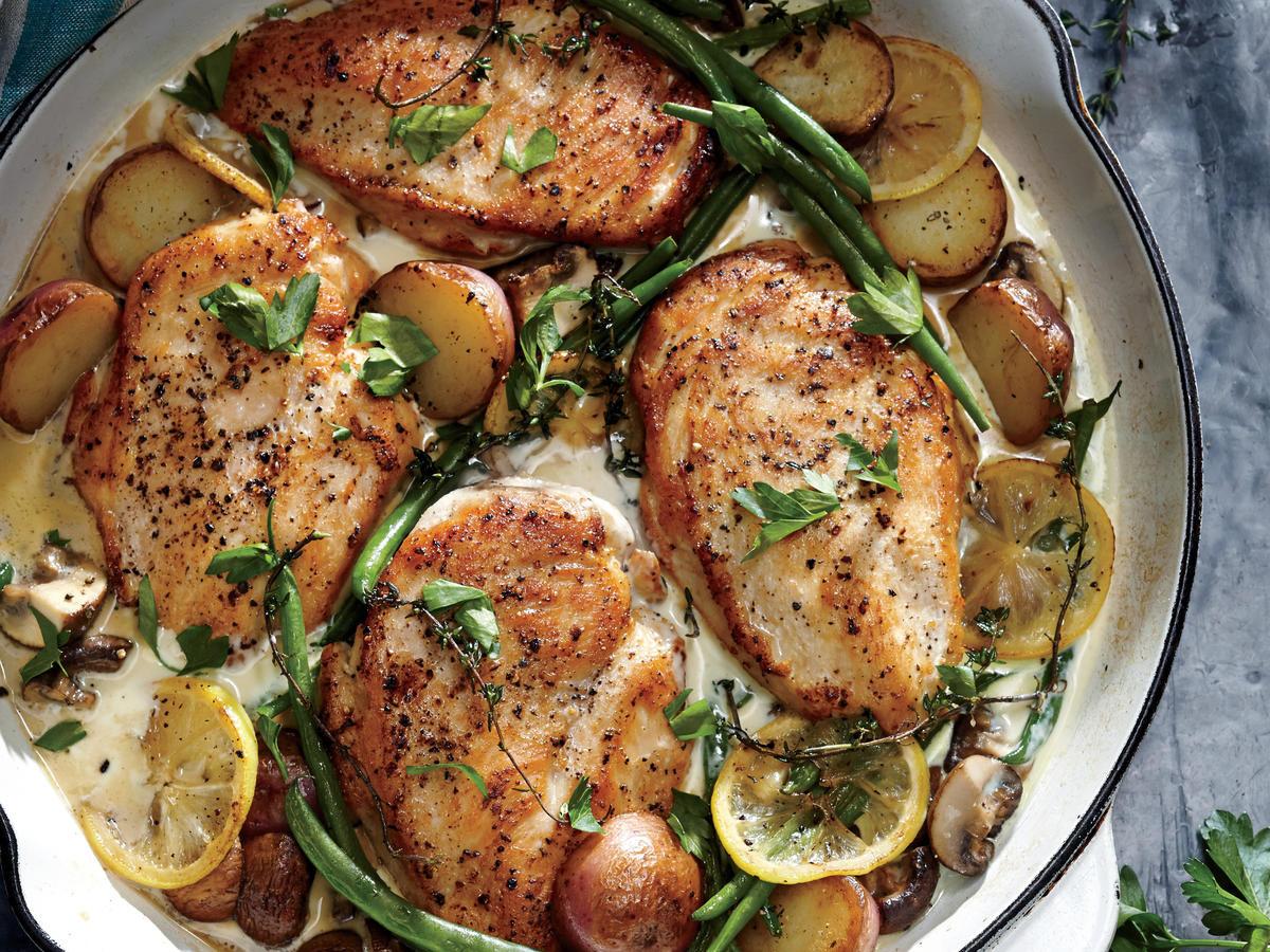Easy Healthy Chicken Dinners  Weeknight Lemon Chicken Skillet Dinner Recipe Cooking Light