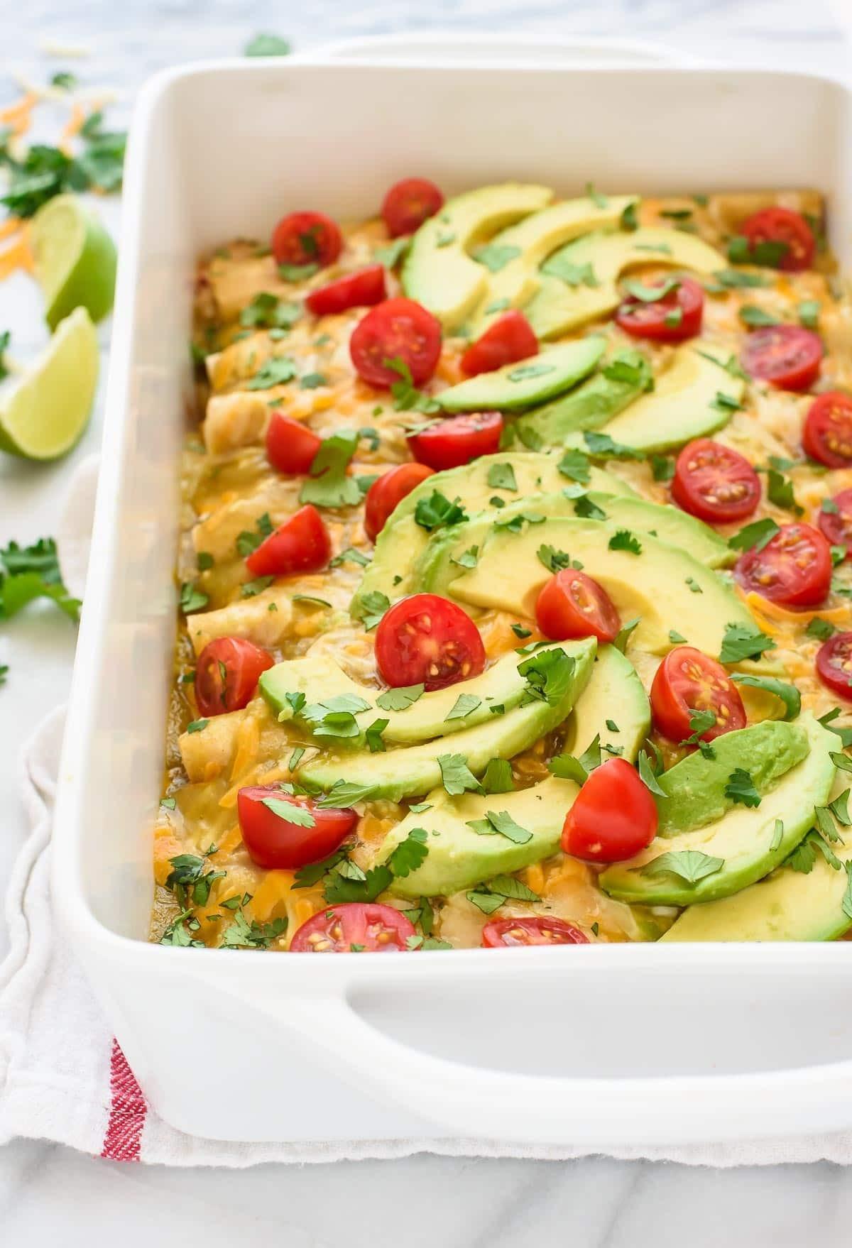 Easy Healthy Chicken Enchiladas  Green Chile Chicken Enchiladas