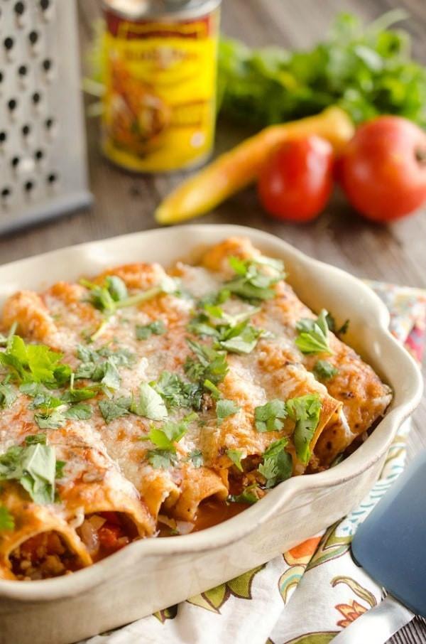 Easy Healthy Chicken Enchiladas  Healthy Weekly Meal Plan Week 54