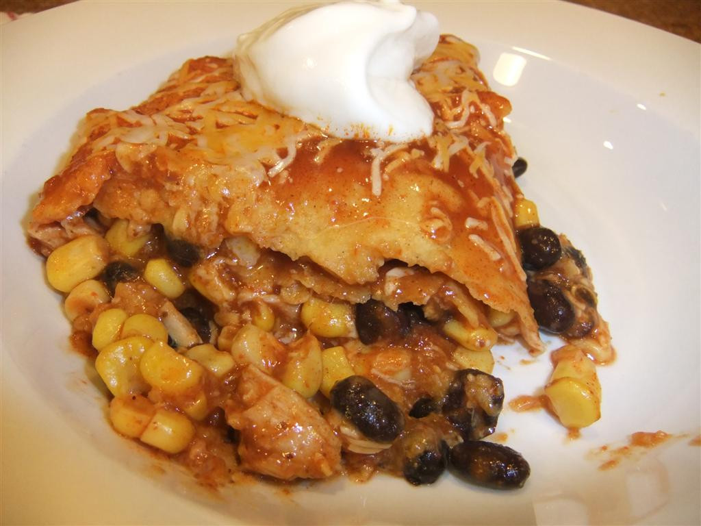 Easy Healthy Chicken Enchiladas  Easy Healthy Chicken Enchilada Bake Recipe