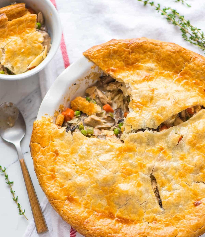 Easy Healthy Chicken Pot Pie  Healthy Chicken Pot Pie