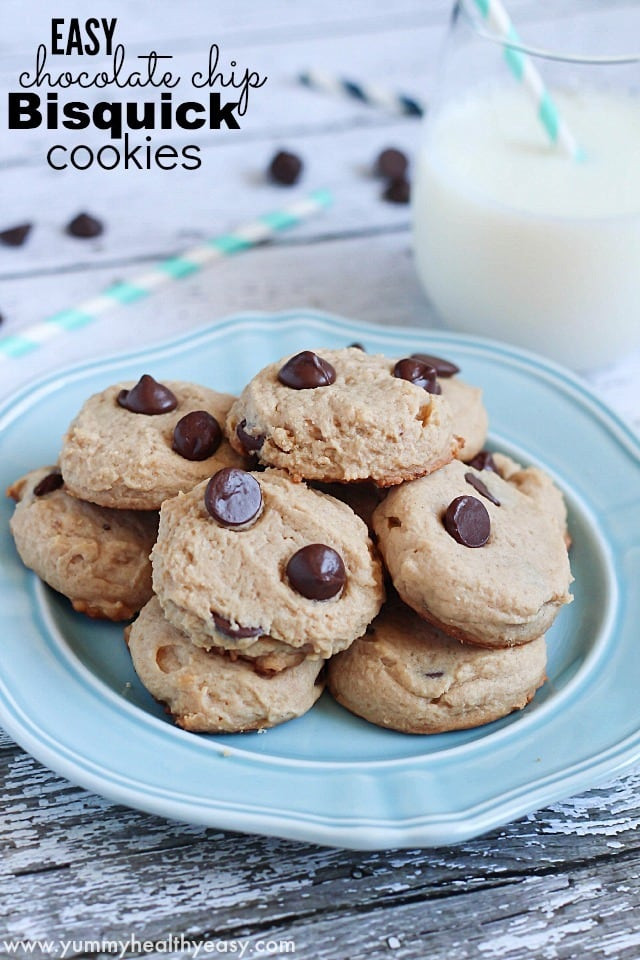 Easy Healthy Chocolate Chip Cookies  Easy Chocolate Chip Bisquick Cookies Yummy Healthy Easy