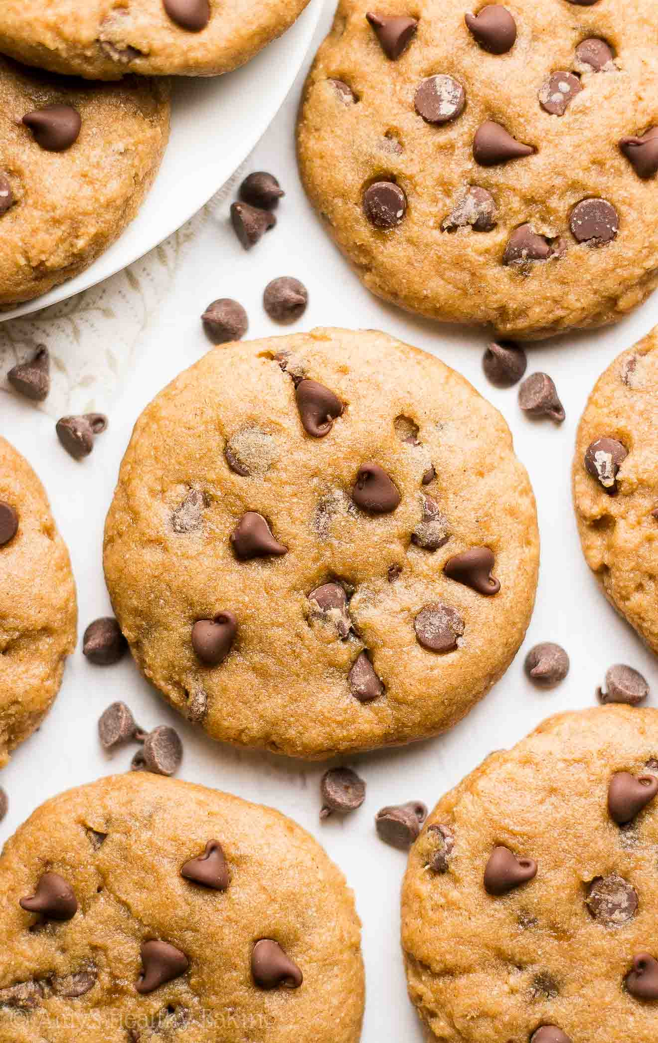 Easy Healthy Chocolate Chip Cookies  VIDEO Healthy Banana Chocolate Chip Cookies