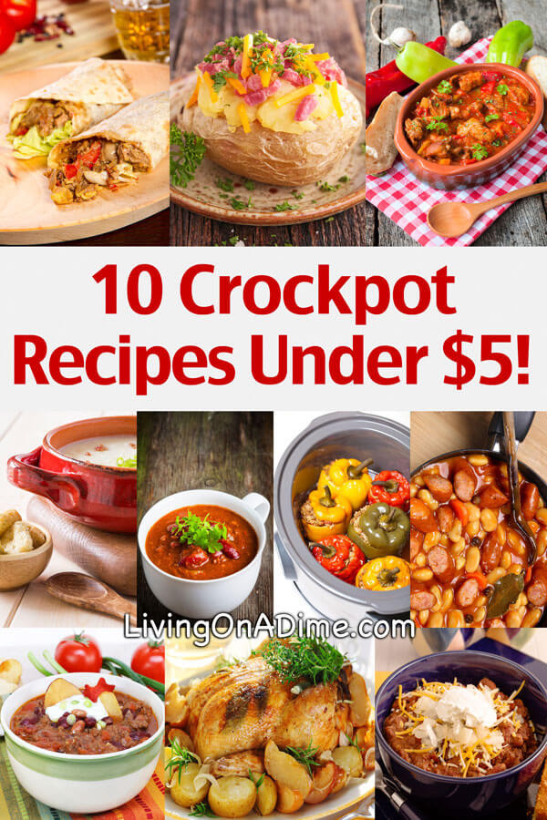 Easy Healthy Crockpot Dinners  10 Crockpot Recipes Under $5 Easy Meals Your Family Will