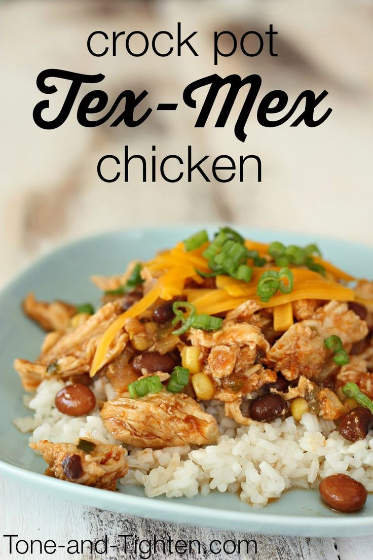 Easy Healthy Crockpot Dinners  Healthy Crock Pot Tex Mex Chicken on Tone and Tighten