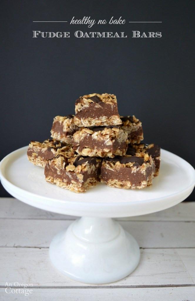 Easy Healthy Desserts No Bake  Healthy No Bake Fudge Oatmeal Bars Gluten Free