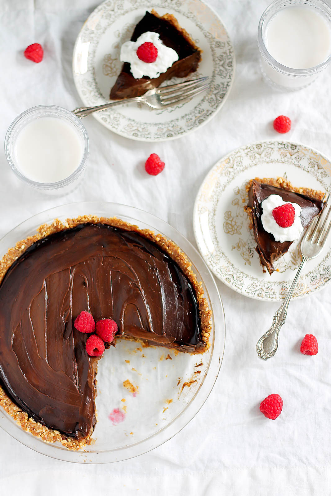 Easy Healthy Desserts No Bake  Vegan Chocolate Avocado Pudding Pie with Salted Almond