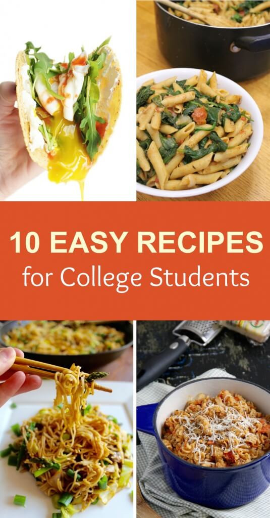 Easy Healthy Dinners For College Students  10 Easy Recipes for College Students