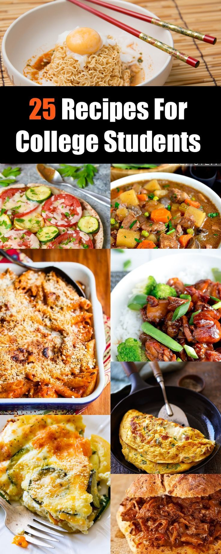 Easy Healthy Dinners For College Students  100 College student recipes on Pinterest