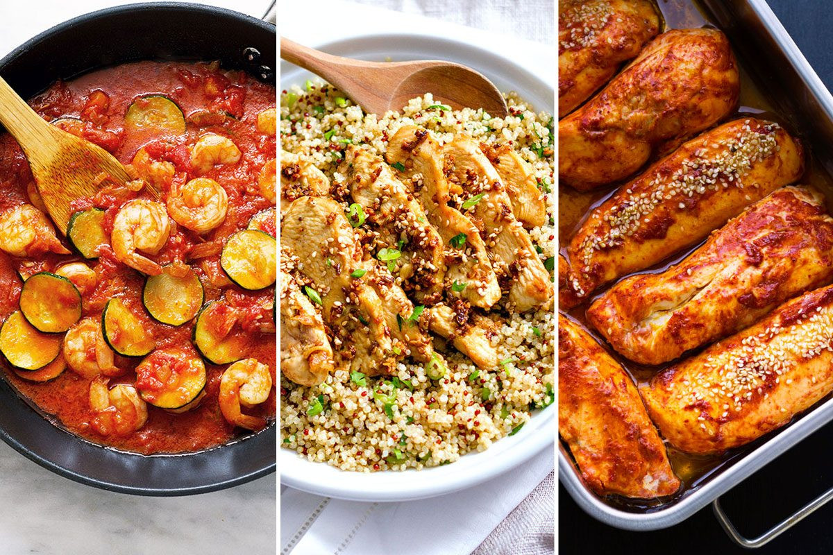 Easy Healthy Dinners  Healthy Dinner Recipes 22 Fast Meals for Busy Nights